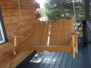 Porch Swing in Natural Finish